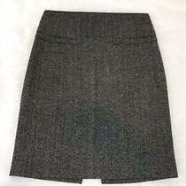 Express Women's Gray Textured Wool Blend Belted Pencil Skirt Sz 6 Photo