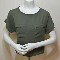 Express Women's Green Short Sleeve Blouse Top Size Extra Small (Xs) Photo