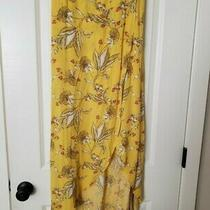 Express Women's High Waisted Maxi Skirt Yellow Size S Photo