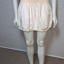 Express Women's Ivory Short Crochet Ribbon Skirt Sz Xl Photo