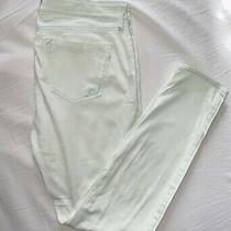Express Women's Jeans Size 8 Skinny / Legging Fit Mint Green Stretch Photo