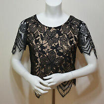 Express Women's Lace Short Sleeve Blouse Top Size Extra Small (Xs) Photo
