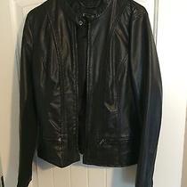 Express Women's Leather Jacket -Black Photo