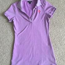 Express Women's Light Purple Polo Shirt Xs Photo