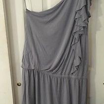 Express Women's One Shoulder Gray Dress Size M Photo