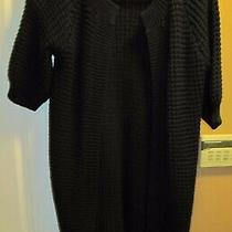 Express Women's Open Front Sweater Coat Cardigan Chunky Knit Wool Blend Size L Photo