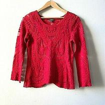 Express - Women's Red Lace Shirt - Size Xs Photo
