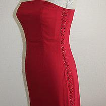 Express  Women's Sexy Slimming Red Dress Sz4  New Photo