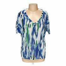 Express Women's  Shirt Size M  Blue/navy Green White  Free Spirit Photo
