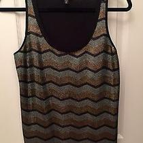 Express Women's Silver Gold & Black Sequins Cami Size S Photo