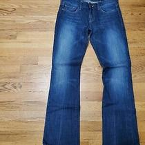 Express Womens Size 4r Jeans Distressed Stella Bootcut Low Rise Blue Med Wash Photo