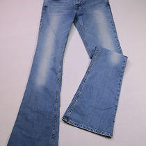 Express Women's Size 6 Tall Inseam 33 Denim Blue Jeans Flare  Drag Wear Photo