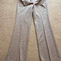 Express Women's Size 6r Tan / Gray W White Stripe  Editor Pants Photo