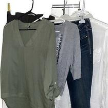Express Womens Size Med Tops & Size 6 Jean & Dress Pant Fall Items (Lot6) Photo