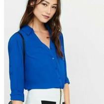 Express Women's Size S Royal Blue Portofino Shirt  Photo