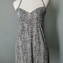 Express Women's Size Xs Extra Small Cheetah Black & White Dress Cute Photo
