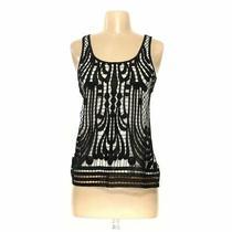 Express Women's Sleeveless Top Size Xs  Beige  Polyester Metallic Cotton Photo