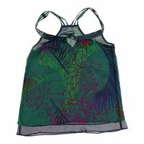Express Women's Sleeveless Top Size Xs  Green Purple  Other Photo