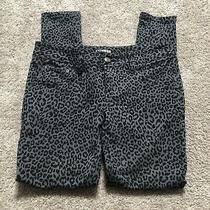 Express Womens Small Animal Print Black/gray Skinny Fit Denim Jeans  Photo
