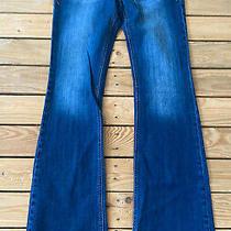 Express Womens Stella Low Rise Bootcut Jeans Size 8 Long Blue Photo