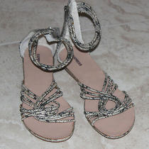 Express Women's Strappy Ankle Strap Snake Skin Print Sandals Sz 7 Photo