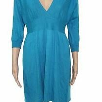 Express Women's Sweater Dress Turquoise Blue Size Small S Surplice 75 436 Photo