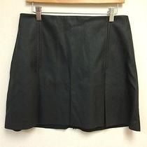 Express Women's Sz 10 Black 100% Pleather Polyester Mini Skirt Photo