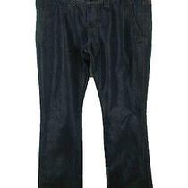 Express Women's Sz 6 Solid Blue Cotton Blend Stella Shimmer Bootcut Jeans Photo