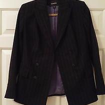 Express Women's Tailored Pinstriped Jacket Size 1/2 Photo