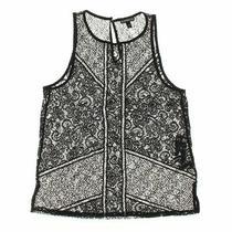 Express Women's Tank Top Size S  Grey Black  Nylon Spandex Polyester Photo