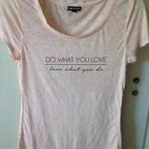 Express Women's Tee Shirt Peach Beige Medium Photo