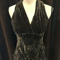 Express Womens Top Velvet Halter Top Blouse Brown Size Small Photo
