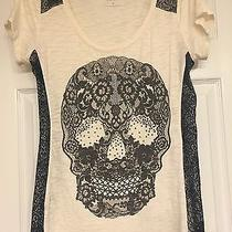 Express Women's Tshirt Skull/lace Medium  Photo