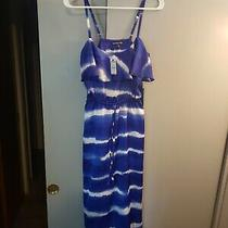 Express Women's  Unique Purple/white Swirl Maxi Dress Size Extra Small Nwt Photo