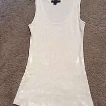 Express Women's White Sequin Tank Medium Photo