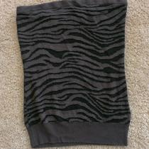 Express Women's Zebra Print Tube Top Size Medium Photo