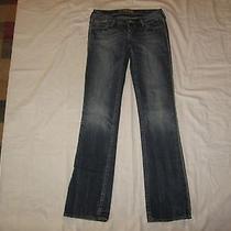 Express Women's Zelda Barely Boot Blue Denim Jeans Size 2 Waist 29