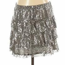 Express Women Silver Formal Skirt S Photo