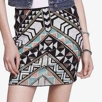 Express Women Size S Deco Sequin Embellished Mini Skirt Photo