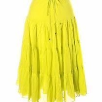 Express Women Yellow Casual Skirt L Photo