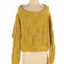 Express Women Yellow Pullover Sweater M Photo