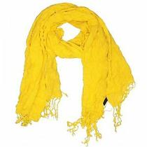 Express Women Yellow Scarf One Size Photo