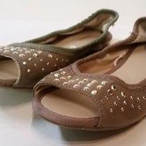 Express Womens Ballet Flats Open Toe Shoes Photo