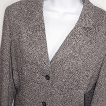 Express Womens Beautiful Black and White Blazer Jacket Sz. 9/10 9 10 Photo