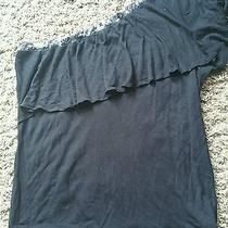 Express Womens Black One-Shoulder Stretch Knit Dress Top - Large  Photo