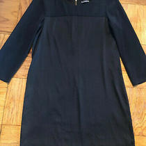 Express Womens Black Size Small Shift Dress With Sleeves Photo