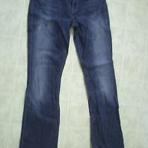 Express Womens Blue Boot Cut Jeans Euc Size 6 X 34 Inseam Photo