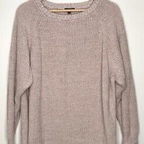 Express Womens Blush Pink Long Sleeve Knit Sweater Size Medium Photo