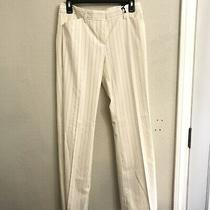 Express Womens Career Pants Editor Gold Striped Nwt Size 4 Beige Photo
