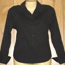 Express Womens Casual Shirt Corset Tie Back Button Up Top Blouses Sz 13/14 2780 Photo